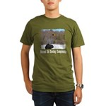 Ski Shooting Organic Men's T-Shirt (dark)