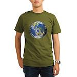 Peace On Earth Organic Men's T-Shirt (dark)
