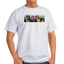 I love Oma German Shepherd Ash Grey T-Shirt