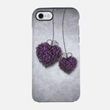 Purple Hearts iPhone 7 Tough Case
