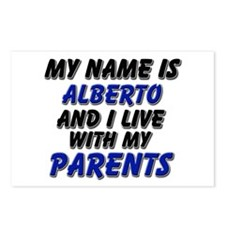 my name is alberto and I live with my parents Post