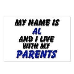 my name is al and I live with my parents Postcards
