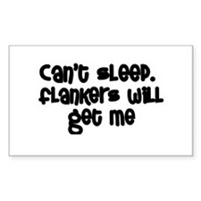 Can't Sleep Flankers Will Get Me Rugby Decal