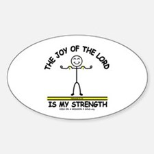THE JOY OF THE LORD Oval Decal
