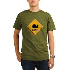 Snail X-ing Organic Men's T-Shirt (dark)