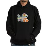 Cute Garden Time Baby Ducks Hoodie (dark)