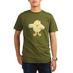 Cute Little Girl Chick Organic Men's T-Shirt (dark