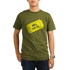 Ticket to Hell2 Organic Men's T-Shirt (dark)