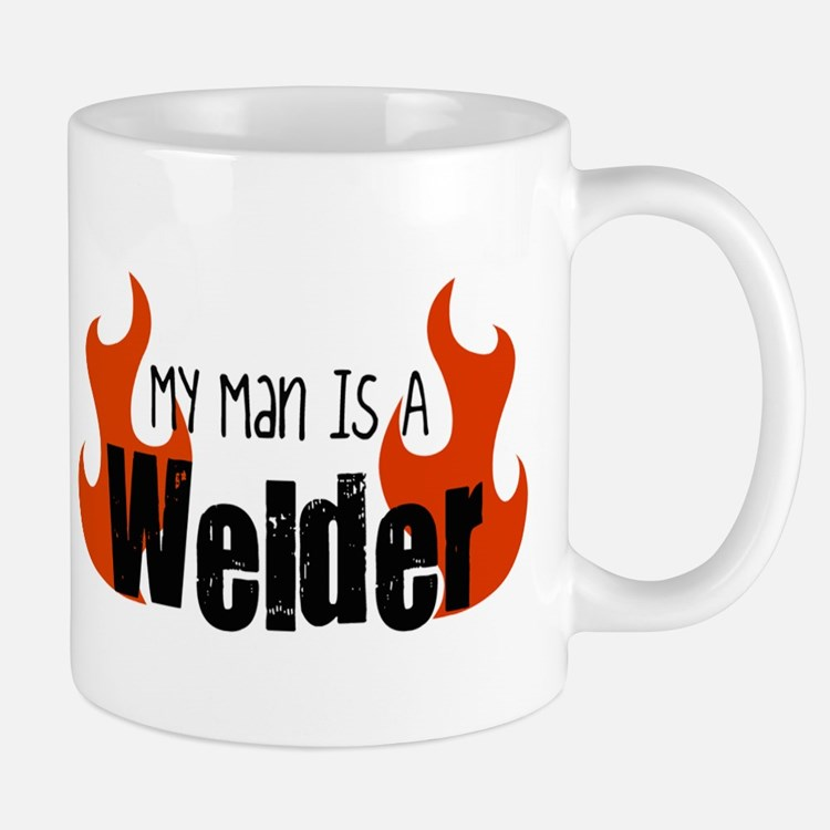 My Man Is A Welder Small Small Mug
