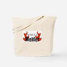 My Man Is A Welder Tote Bag
