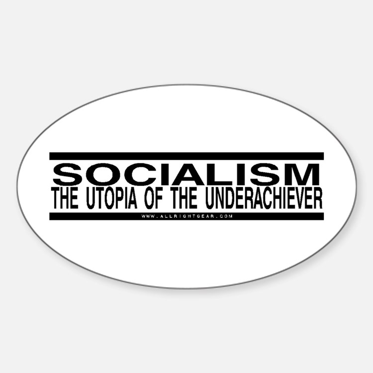 Socialism Utopia Oval Decal