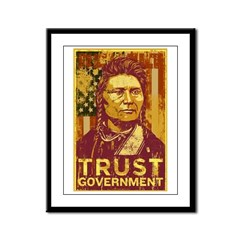 Trust Government Framed Panel Print