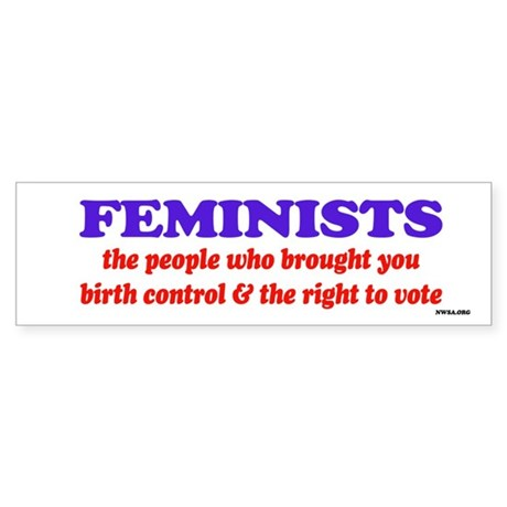 Fem vote Bumper Sticker