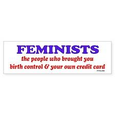 Fem credit Bumper Bumper Sticker