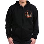 She-Devil Pin-Up Girl Zip Hoodie (dark)