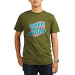 Open All Night Neon Sign Grap Organic Men's T-Shir
