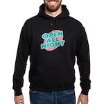 Open All Night Neon Sign Grap Hoodie (dark)