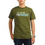 I'm Not Fat I'm Pregnant Organic Men's T-Shirt (da