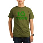 I Recycle Toys Organic Men's T-Shirt (dark)