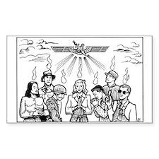 SubGenius Worship Rectangle Bumper Stickers