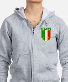 Italy Crest with Stars Zip Hoodie