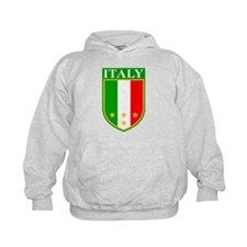 Italy Crest with Stars Hoodie