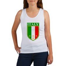 Italy Crest with Stars Women's Tank Top