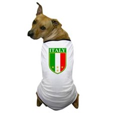 Italy Crest with Stars Dog T-Shirt