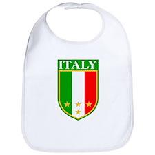 Italy Crest with Stars Bib