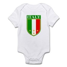 Italy Crest with Stars Infant Bodysuit