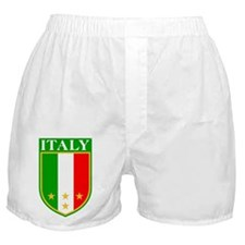 Italy Crest with Stars Boxer Shorts