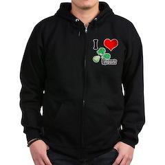 I Heart (Love) Brussels Sprou Zip Hoodie