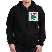 I Love (Heart) Broccoli Zip Hoodie