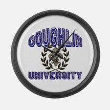 Coughlin Last Name University Large Wall Clock
