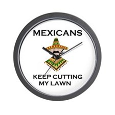 MEXICAN WORKERS Wall Clock
