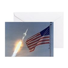 Apollo 11 Launch & Flag Greeting Cards (Packag