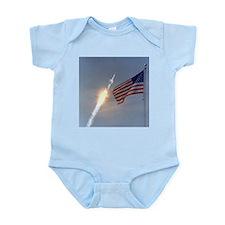 Apollo 11 Launch & Flag Infant Creeper