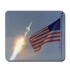 Apollo 11 Launch & Flag Mousepad