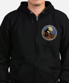 Mountain Bike Chain Design Zip Hoodie