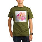Cute Little Cupid Shooting Ar Organic Men's T-Shir