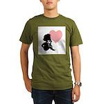 Valentine Silhouette Thinking Organic Men's T-Shir