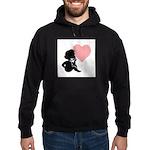 Valentine Silhouette Thinking Hoodie (dark)