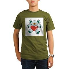Green Valentine Teddy Bear T-Shirt