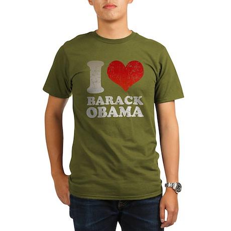 I love Barack Obama Organic Men's T-Shirt (dark)