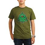 Cute Happy Christmas Tree Organic Men's T-Shirt (d