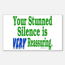 Stunned Silence Rectangle Decal