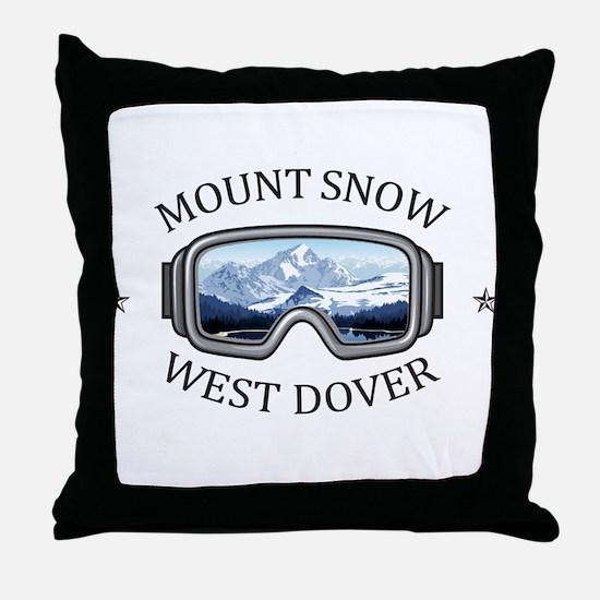 Mount Snow - West Dover - Vermont Throw Pillow