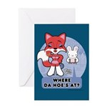 Foxy Foxy Greeting Card