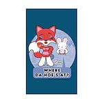 Foxy Foxy Rectangle Sticker