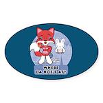 Foxy Foxy Oval Sticker
